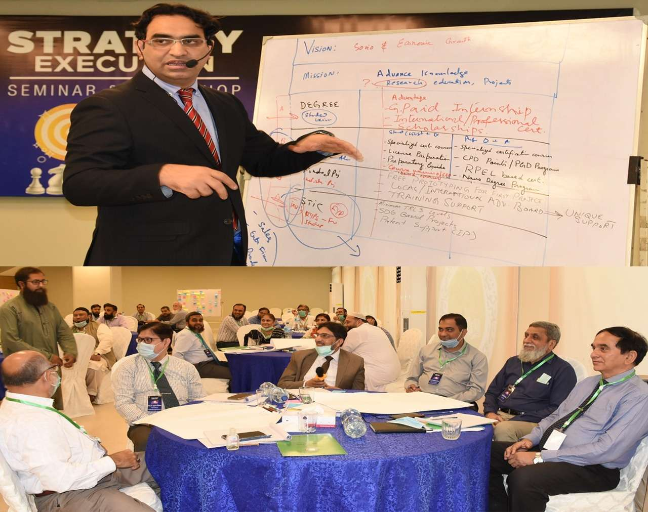Sir Syed University organized 2-day workshop on Strategy Execution Success can be achieved by committing to excellence